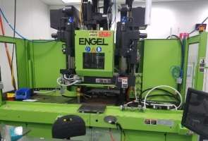 2010 90 ton Engel LSR Vertical with Vertical Injection LSR